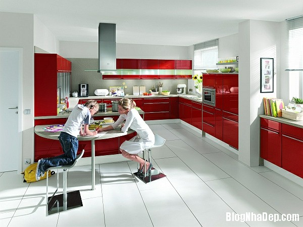 df826ab44d156b7217a53a08479ec2ef Phòng bếp tràn đầy năng lượng với sắc đỏ