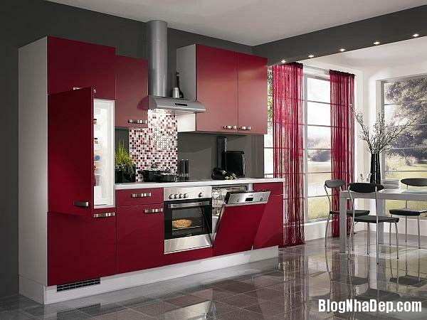 f86a3639a3f8603876d8333ce7ffe50d Phòng bếp tràn đầy năng lượng với sắc đỏ