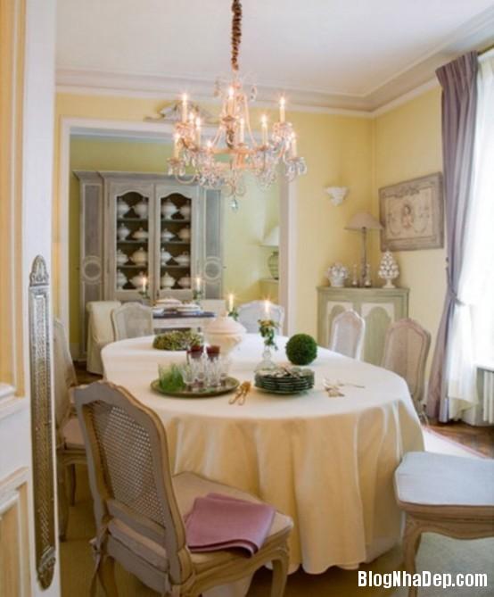 fee680d34572b4b7a98c8a7bcf2636b0  Phòng ăn đẹp quyến rũ, nhẹ nhàng theo phong cách Pháp
