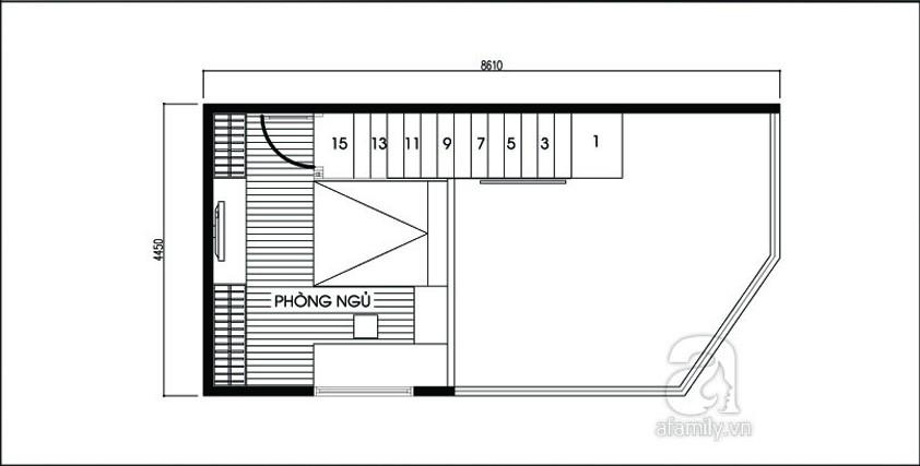 file.422605 Phương án bố trí cho nhà bị vát góc có diện tích 36,4m²