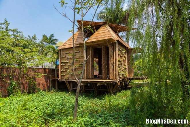 20140424083904963 Ngôi nhà tre 1 tầng với thiết kế chống lụt ở Hà Nội