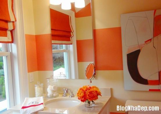 0ae2c10b46e3bcf1279283912d268700 Phòng tắm rực rỡ và quyến rũ với gam màu cam