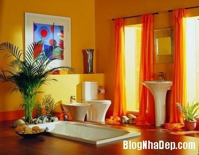 1890fc6e3a5d719110ce3b828943f389 Phòng tắm rực rỡ và quyến rũ với gam màu cam