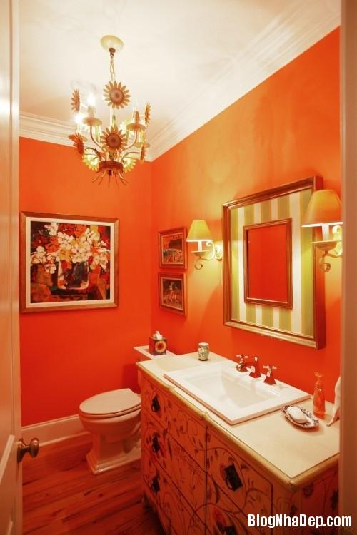 6ba030f1aa5b5b55e84698d6b0dc1c43 Phòng tắm rực rỡ và quyến rũ với gam màu cam