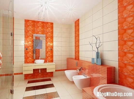 87784f9b020bdb289e5b59d4355437f8 Phòng tắm rực rỡ và quyến rũ với gam màu cam