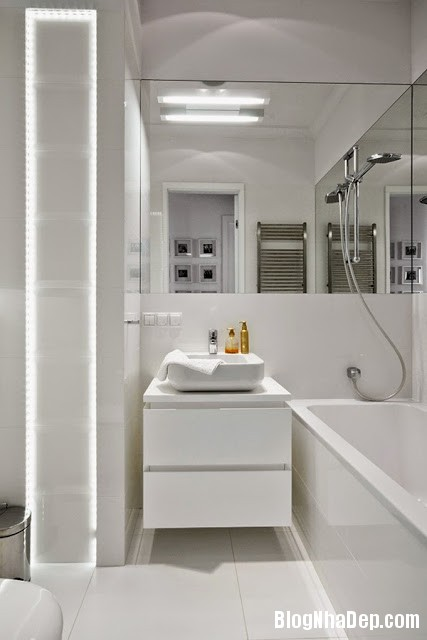 Bathroom Elements20 Căn hộ penthuose sang trọng với gam màu trắng