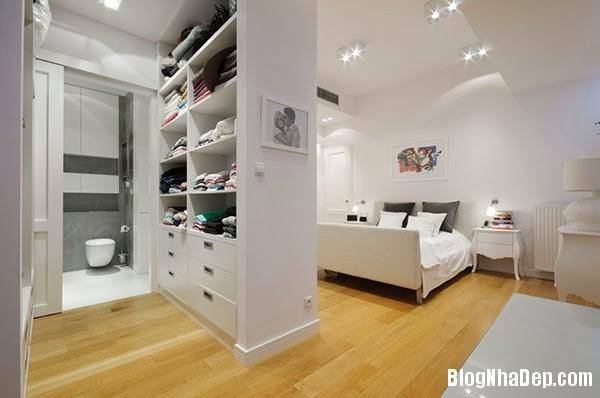 Bedroom and Bathroom15 Căn hộ penthuose sang trọng với gam màu trắng
