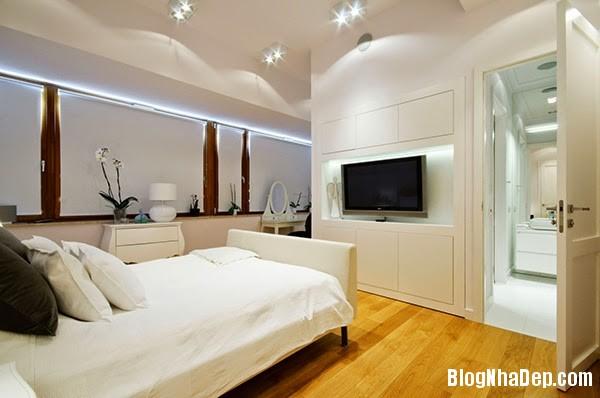 Bedroom13 Căn hộ penthuose sang trọng với gam màu trắng