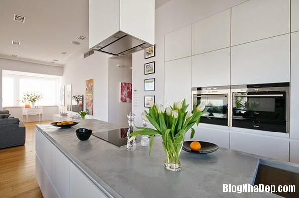 Kitchen11 Căn hộ penthuose sang trọng với gam màu trắng