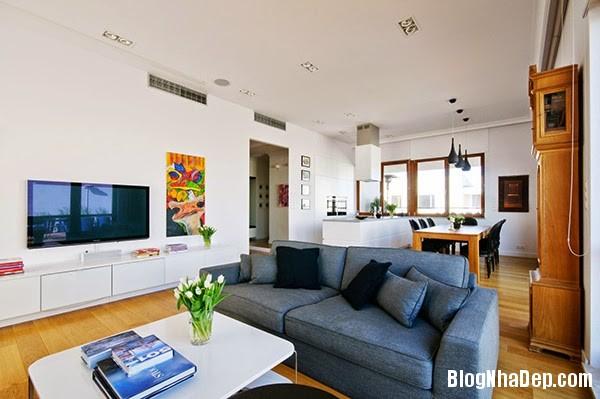 Living Room Details1 Căn hộ penthuose sang trọng với gam màu trắng