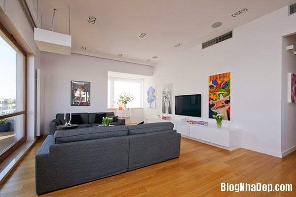 Neat Interior2 Căn hộ penthuose sang trọng với gam màu trắng