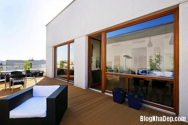 Terrace Details26 Căn hộ penthuose sang trọng với gam màu trắng