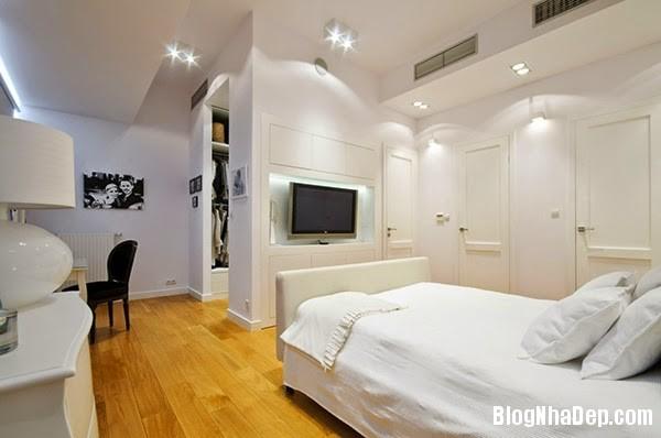 White Bedroom17 Căn hộ penthuose sang trọng với gam màu trắng