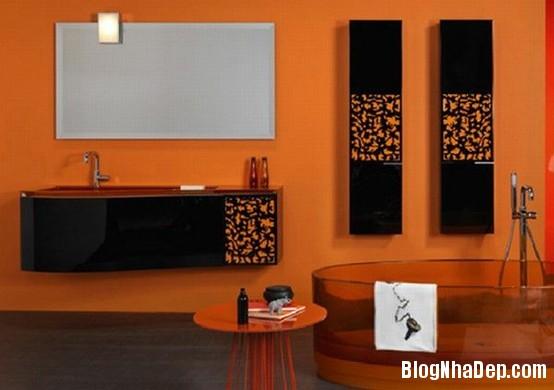 b8ae51649e242ffcd2a5b63593f1ffc4 Phòng tắm rực rỡ và quyến rũ với gam màu cam