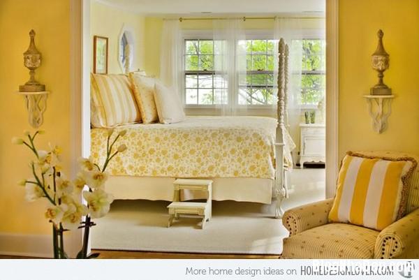 4641fe262a311210b9f61101e7b08c7b Phòng ngủ nổi bật với gam màu vàng