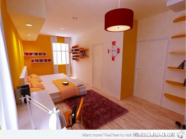 5107dd664522cee81d447e0c968cd54d Phòng ngủ nổi bật với gam màu vàng