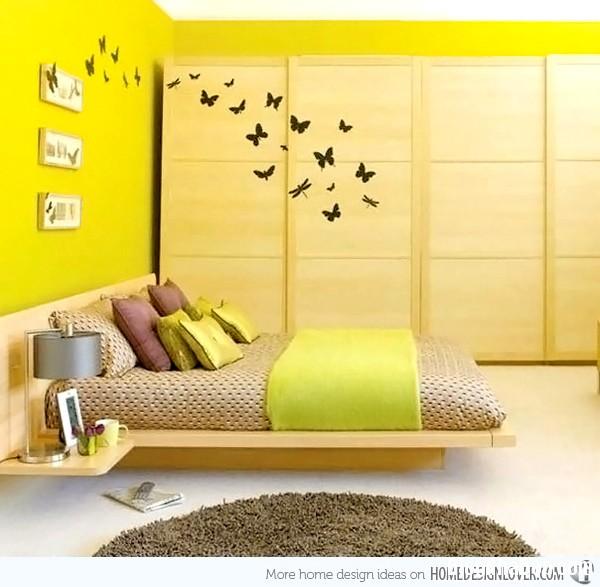 cae0d33040eaf871b8333a11a3d85f5e Phòng ngủ nổi bật với gam màu vàng