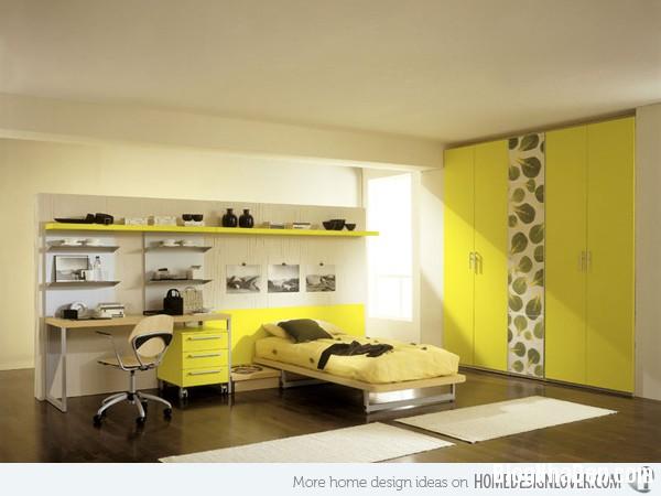 d95868002734239ace7545b2413123e7 Phòng ngủ nổi bật với gam màu vàng