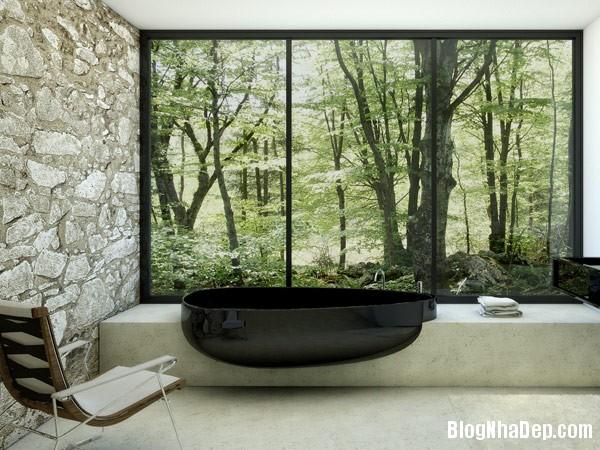 46e2a8fbde513dd2df1af850fbfcdab4 Những phòng tắm được ốp đá xinh đẹp