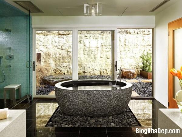 5a7ebb9ff78a773382a6c259e3dbaeff Những phòng tắm được ốp đá xinh đẹp