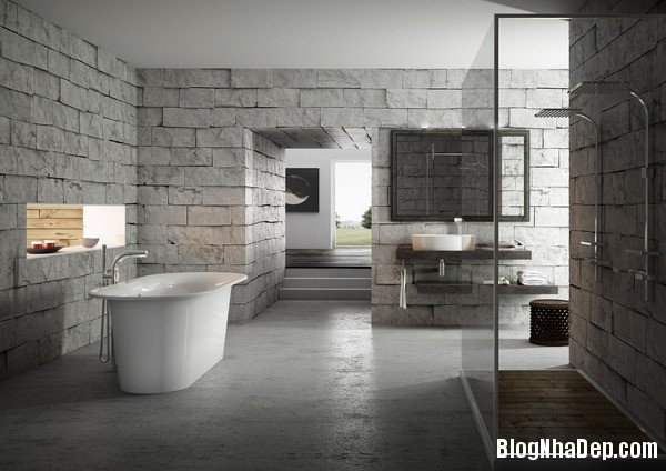 7eea94dbef35d94b0c4b03f952002100 Những phòng tắm được ốp đá xinh đẹp