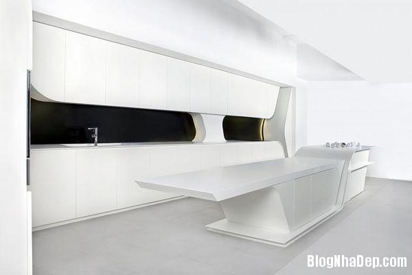 228f4a5b137e827db2fc562e5ecc69ce Wave kitchen : Căn bếp hiện đại với toàn màu trắng