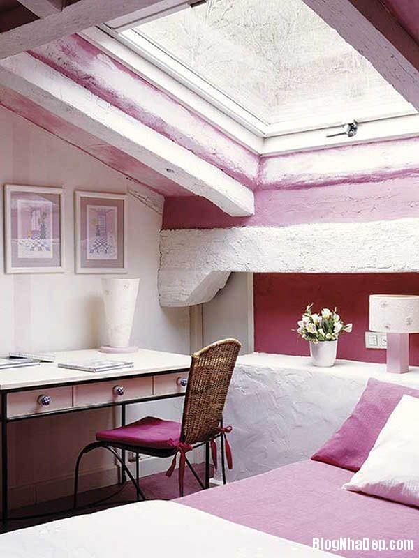 a8ea95688ec661c57580c38b10605154 Thiết kế phòng ngủ trên tầng áp mái