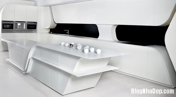 c53624dd093fe2a5054587fed9914d3b Wave kitchen : Căn bếp hiện đại với toàn màu trắng