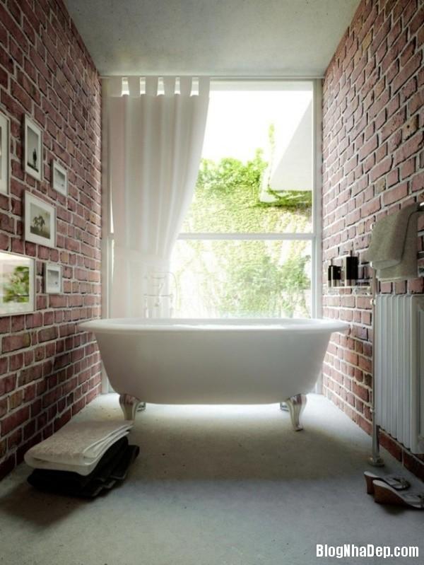 7b13366574f3b4afdb3a06df4dbb950b Nhà tắm đẹp mộc mạc với tường gạch