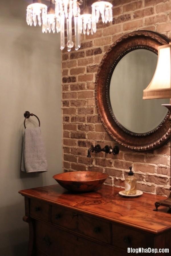 7c48e48877b75be037283bd8996dd4e8 Nhà tắm đẹp mộc mạc với tường gạch