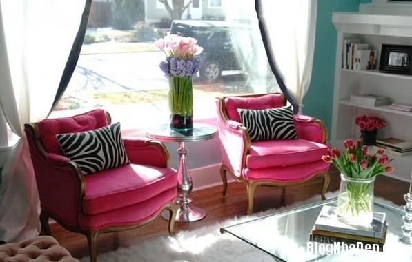 0d42e27a098db67113298f0fe682503a Cách trang trí ngọt ngào, dễ thương cho phòng khách màu hồng