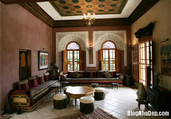 3b4a78289725216317eb93cec19f3b78 Phòng khách cổ kính với phong cách Ma   rốc