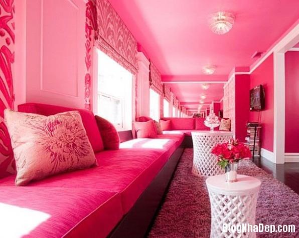 4e1ac46684baefbfc5315dce2865efe6 Cách trang trí ngọt ngào, dễ thương cho phòng khách màu hồng
