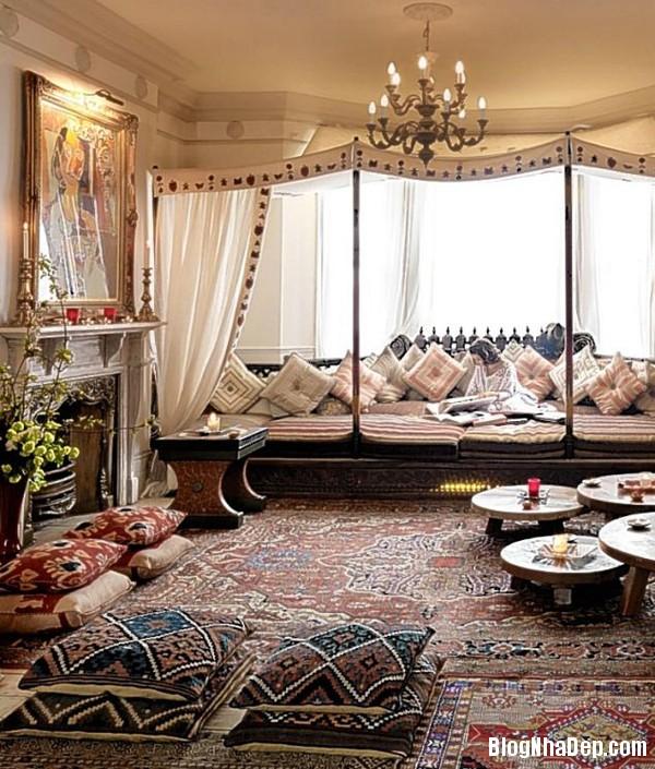 73c1e514fe56becd826391f02ce7c96c Phòng khách cổ kính với phong cách Ma   rốc