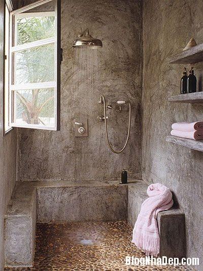 91bcaa8bce8f793670371622d1bcffa5 Phòng tắm mở xinh đẹp giúp xả stress