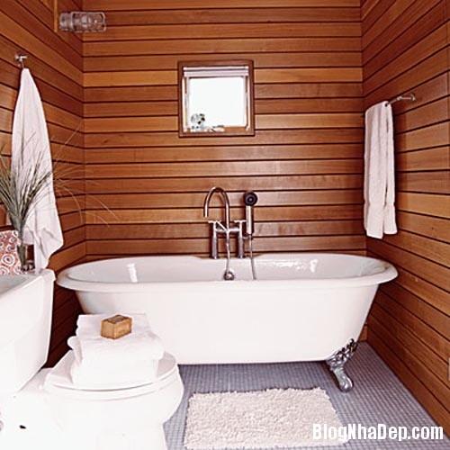 fbc0baf97c90dbec004dc5491ffb8774 Ấm cúng với phòng tắm làm từ gỗ