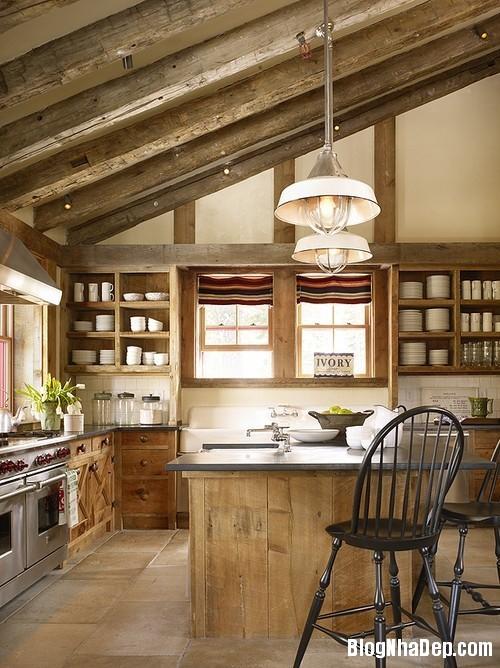 6aef9537adeb9f29f75bf86d6c70e5e4 Phòng bếp ấm cúng và thân mật được xây từ nhà kho