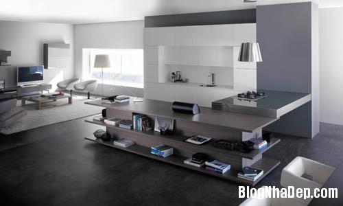 bep hien dai 5 Những mẫu bếp tiện dụng đa phong cách