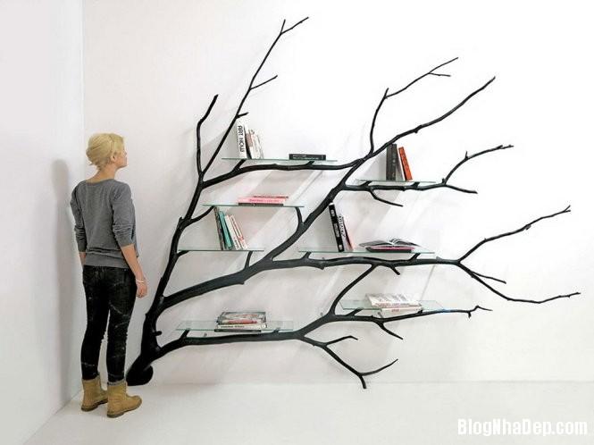ke sach tu canh cay 1 1452670425 Mẫu kệ sách ấn tượng từ cành cây gãy