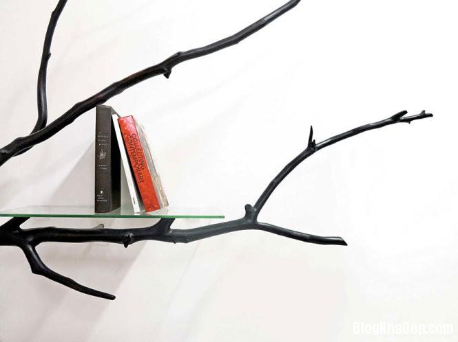 ke sach tu canh cay 3 1452670445 Mẫu kệ sách ấn tượng từ cành cây gãy