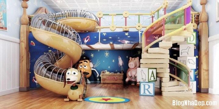 2002640 302c Tận dụng góc phòng bố trí không gian vui chơi cho bé