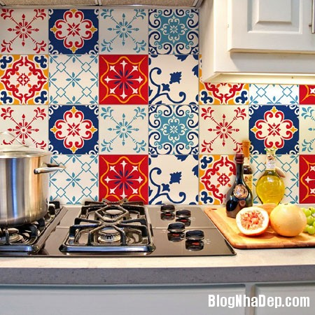 20160406160815 gach bong 23 Nhà bếp sáng bừng với gạch bông có họa tiết rực rỡ