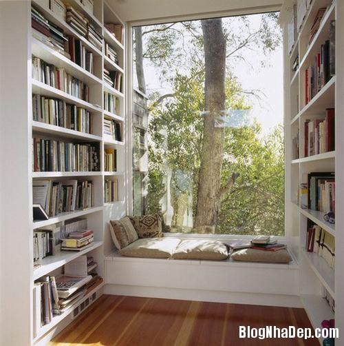 nhung goc doc sach tuyet voi 2 Những góc đọc sách đẹp mê ở mọi nơi trong nhà