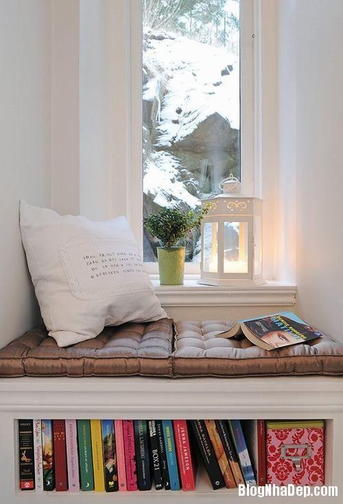 nhung goc doc sach tuyet voi 3 Những góc đọc sách đẹp mê ở mọi nơi trong nhà