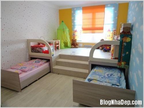 48 bf40 Cách bố trí tối ưu diện tích cho phòng của trẻ