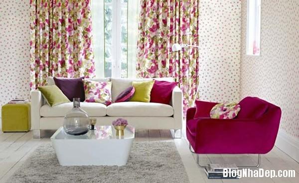 image001 3 Phòng khách rực rỡ với sắc hoa