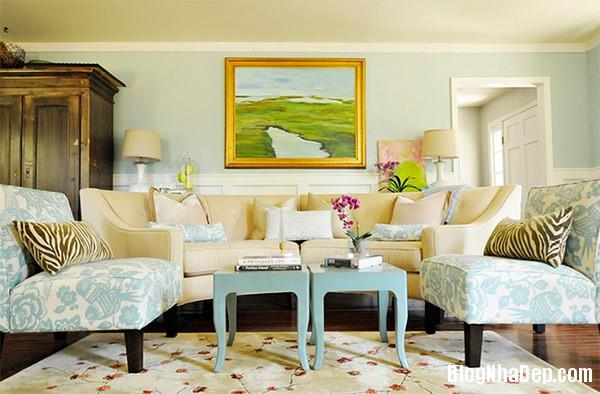image006 4 Phòng khách rực rỡ với sắc hoa