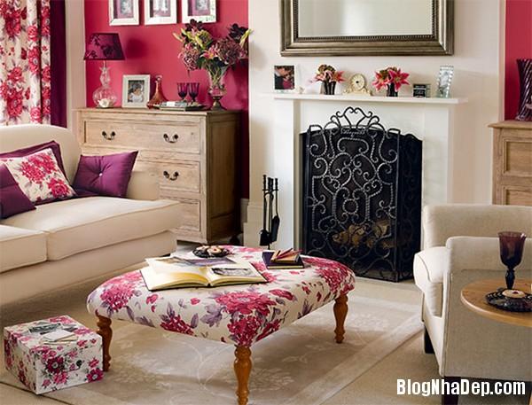 image009 4 Phòng khách rực rỡ với sắc hoa