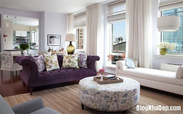 image010 3 Phòng khách rực rỡ với sắc hoa