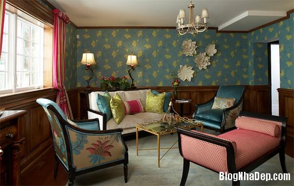 image013 2 Phòng khách rực rỡ với sắc hoa